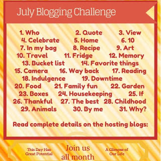 Homeschool Coffee Break - July Blogging Challenge - HOME