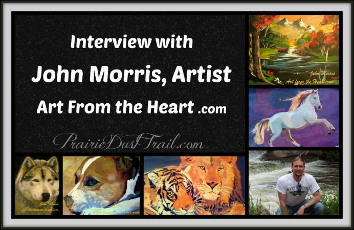 John Morris was born and raised in Huddersfield, West Yorkshire, England, and began painting at the age of 17. He now lives in Ayr Scotland and is a public speaker, musician, and preacher.