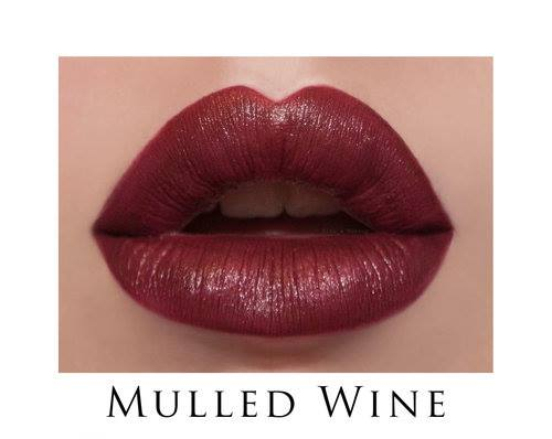 LipSense Mulled Wine is a cool, dark, matte color. It's gorgeously bold!