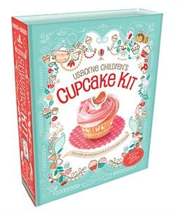 A fantastic kit containing a 64 page recipe book, enough prettily decorated cupcake cases (in two sizes) to make each recipe at least once, and delightful cupcake toppers.