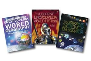 This collection contains the following titles: Encyclopedia of World History (B/U) (P), Encyclopedia of World Geography (P) and Science Encyclopedia (P).