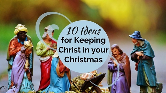 Keeping Christ in Christmas can be just a catch phrase that Christians use to make celebrating Christmas 'ok'. Or it can be a hearts desire to use this time where our society celebrates to reflect Christ, his love and purpose for people. Here are 10 ideas that we have used over time to help our family focus on loving God and loving others at Christmas time.
