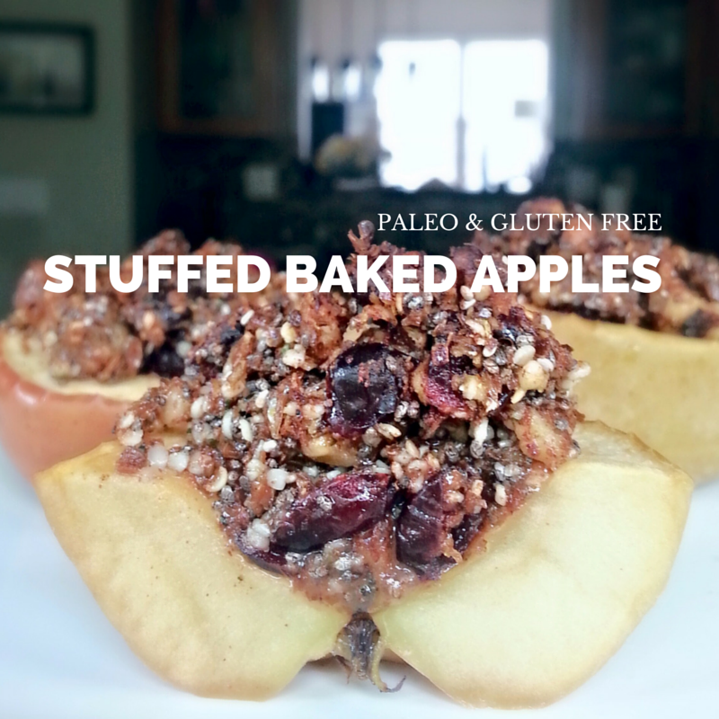 Paleo Stuffed Baked Apples at OCD Kitchen