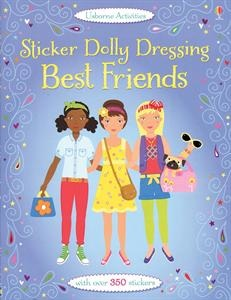 Dress the dolls with the sticker clothes included in the book, in outfits suitable for time spent hanging out with their best friends. Little girls love spending time with their best friends and so do the dolls! Perfect for party bags and birthday presents.