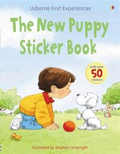 Some words in the story of the New Puppy have been replaced by pictures. Find the stickers that match and stick them over the top. Each sticker has the word with it to help you read the story.