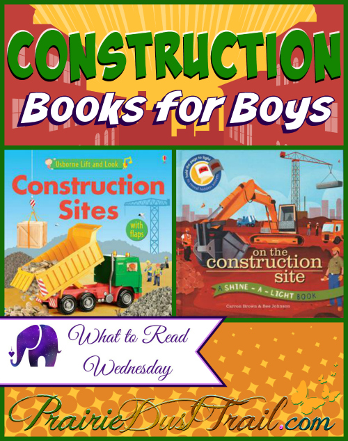 Construction books definitely don't have to be for boys only, but any mother of boys knows from the time he is 'driving' his toast across the highchair with a loud