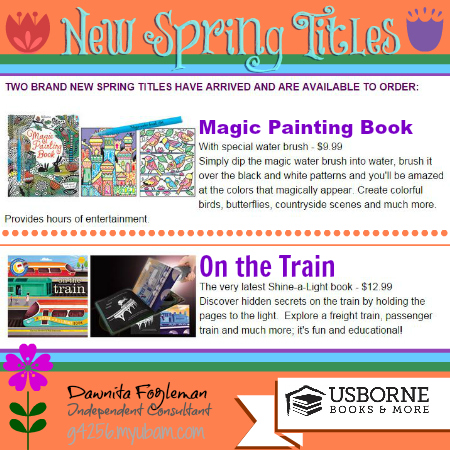 New Spring Titles with Usborne Books & More